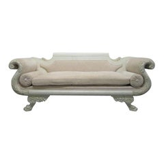 Antique Empire Custom Painted Sofa