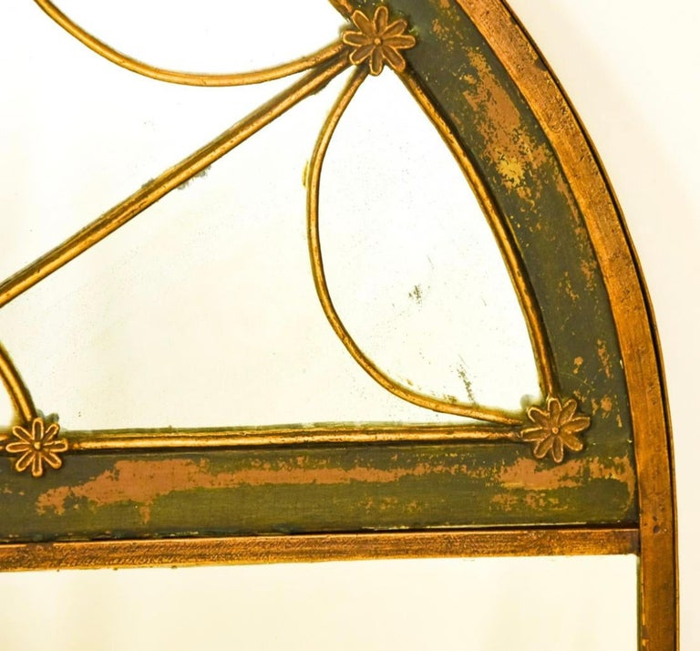 Antique Empire Iron Frame Pier Mirror In Good Condition For Sale In Great Barrington, MA