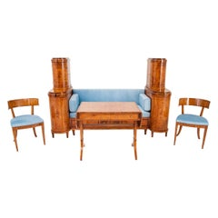 Antique Empire Living Room Set with Table, circa 1850