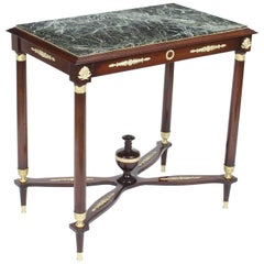Antique Empire Revival Ormolu Mounted Guéridon Occasional Table, 19th Century