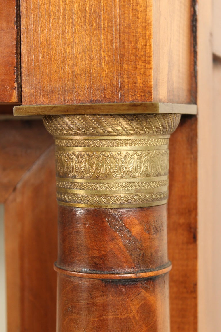 Antique Empire Style Bookcase/ Display Cabinet For Sale 2