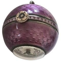 Antique Enamel Pendant / Ball Watch Signed Didisheim Goldshmidt Fils & Co.