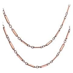 Antique Enamel Platinum Necklace