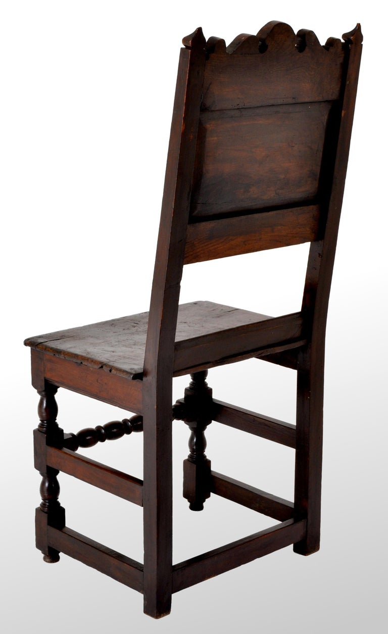 Antique English 17th Century Jacobean Carved Oak Joined Chair, circa 1640 For Sale 6