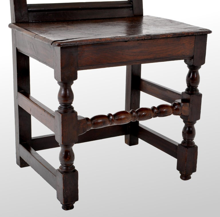 Antique English 17th Century Jacobean Carved Oak Joined Chair, circa 1640 For Sale 5
