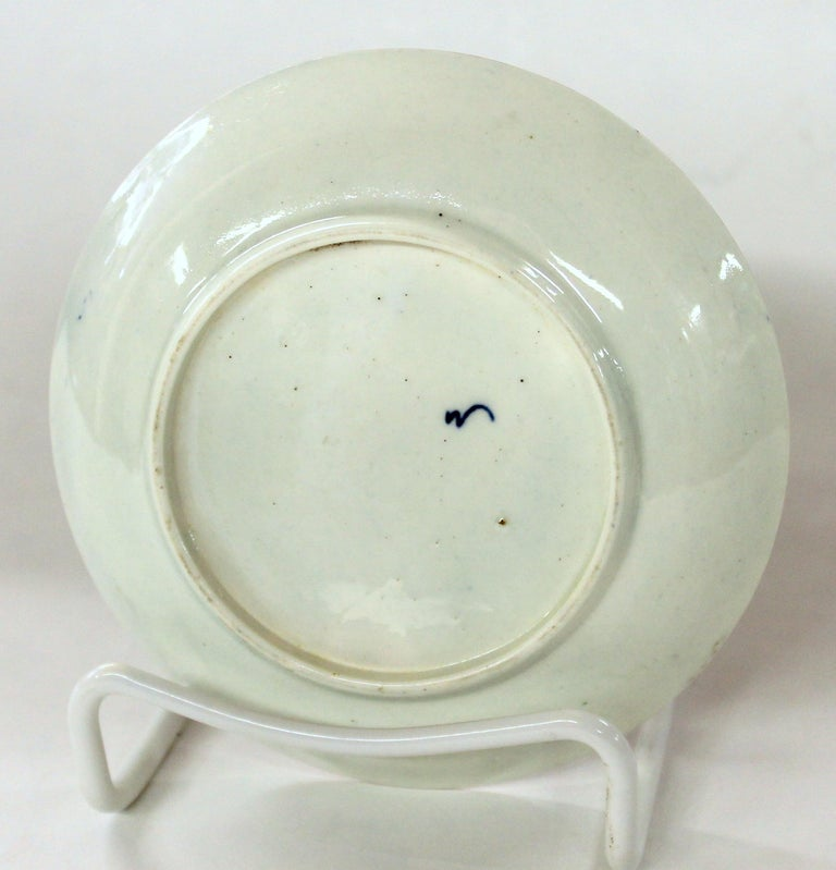 Antique English 18th Century Rare First Period Worcester Porcelain Saucer Dish For Sale 1