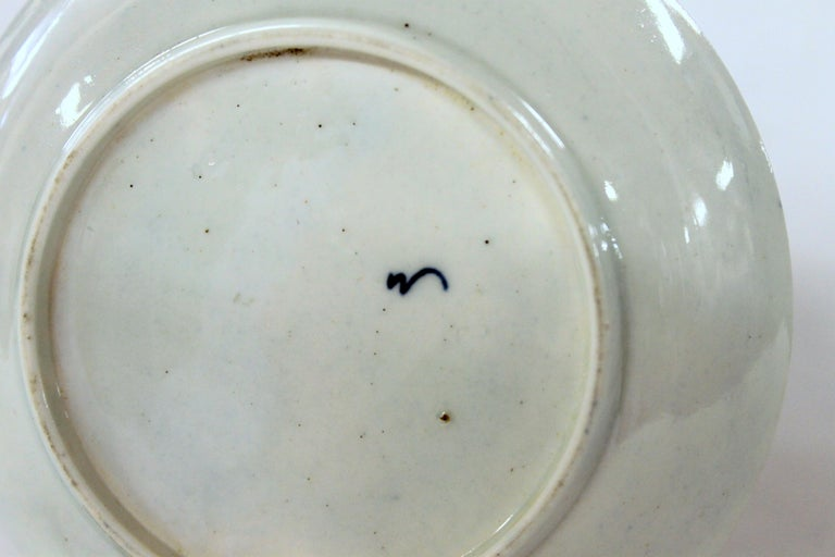 Antique English 18th Century Rare First Period Worcester Porcelain Saucer Dish For Sale 2