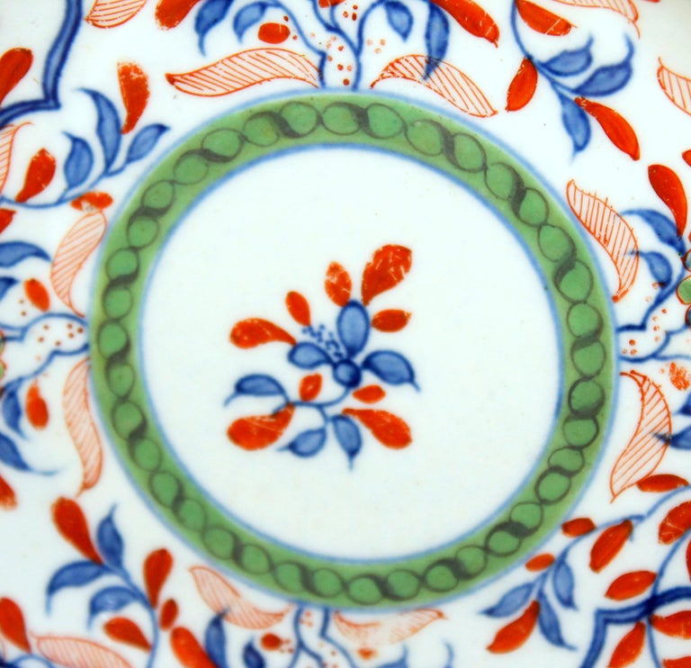 Antique English 18th Century Rare First Period Worcester Porcelain Saucer Dish For Sale 3
