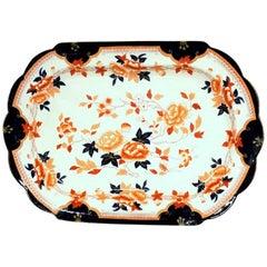 Antique English 19th Century Brownfield & Sons Ironstone Large Imari Platter