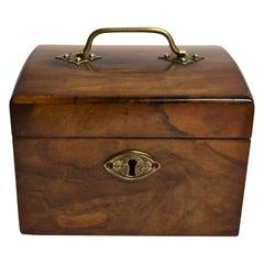 Antique English 19th Century Walnut Tea Caddy