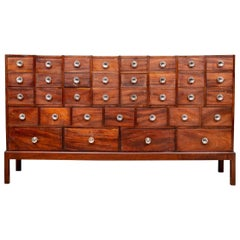 Antique English 36 Drawer Apothecary Chest, C. 1870