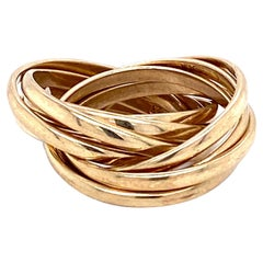 Antique English 9 Karat Gold Multiple Bands Ring