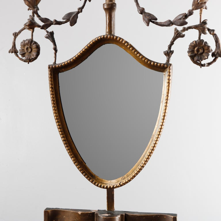 18th Century and Earlier Antique English Adam Neoclassical Style Period Giltwood Wall Mirror 18th Century For Sale