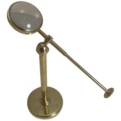 Antique English Adjustable Bulls Eye Desk-Top Magnifying Glass, circa 1900