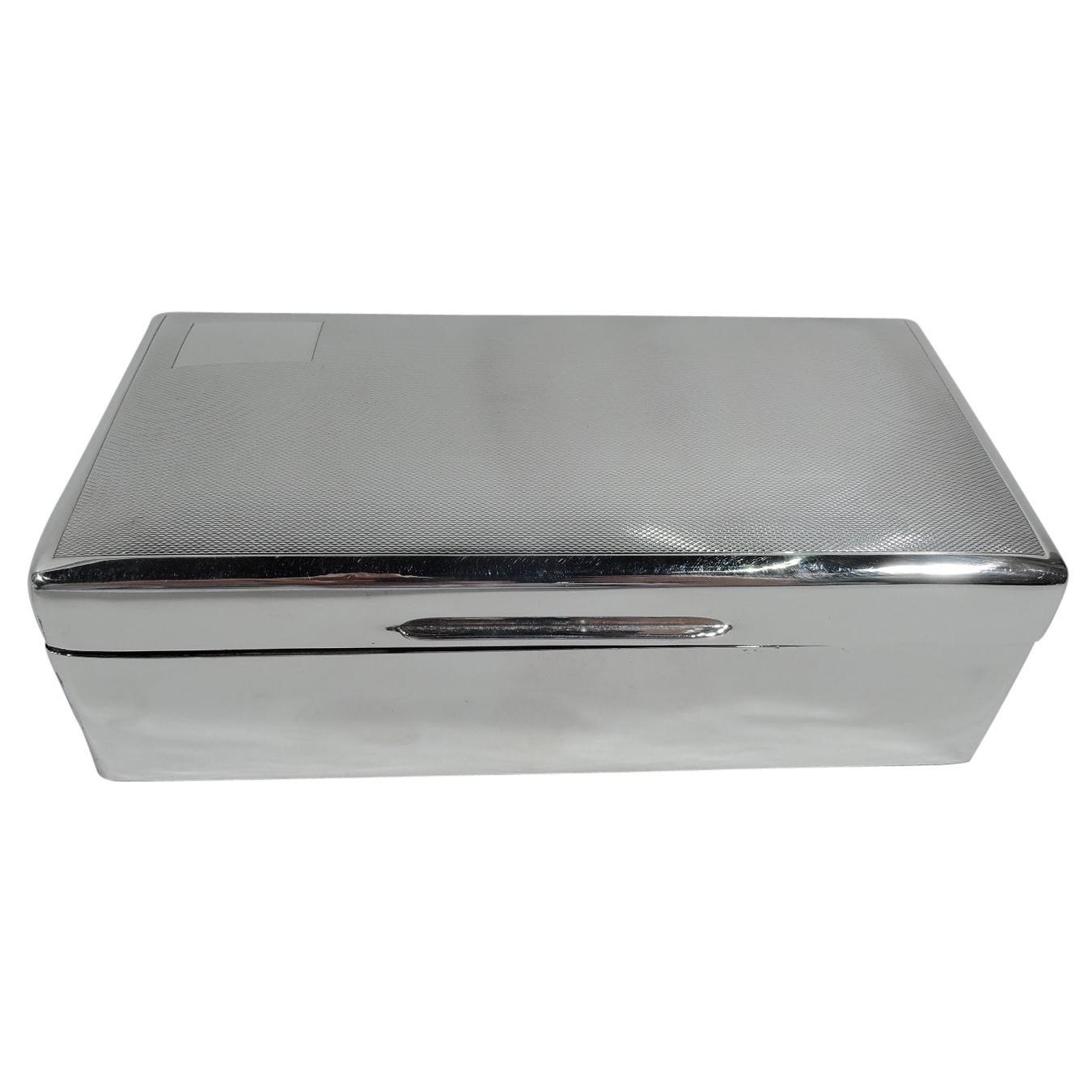 Antique English Art Deco Sterling Silver Box