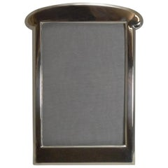 Antique English Art Nouveau Sterling Silver Photograph / Picture Frame, 1919