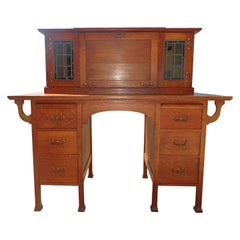 Antique English Arts & Crafts Secretary Desk