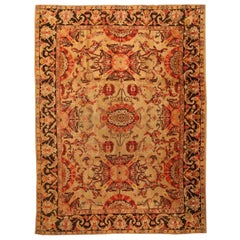 Antique English Axminster Carpet. Size: 9 ft 8 in x 13 ft (2.95 m x 3.96 m)