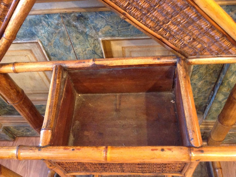 Antique English Bamboo Hall Stand For Sale 5
