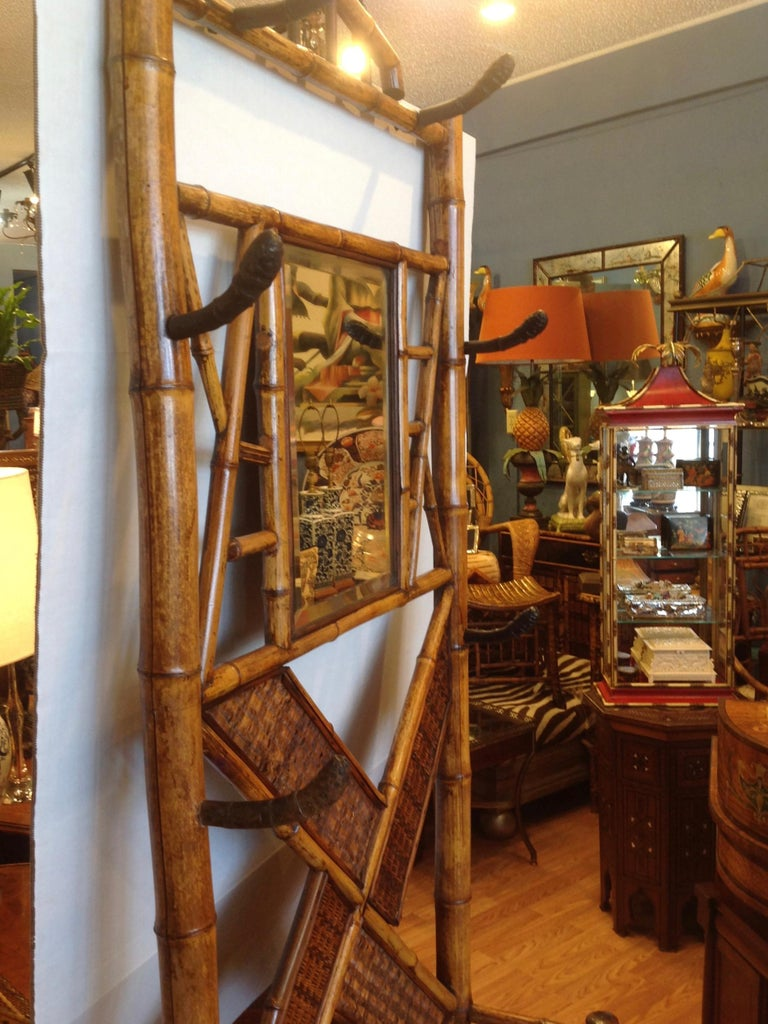 Antique English Bamboo Hall Stand For Sale 8