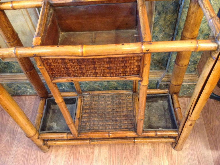 Antique English Bamboo Hall Stand For Sale 1