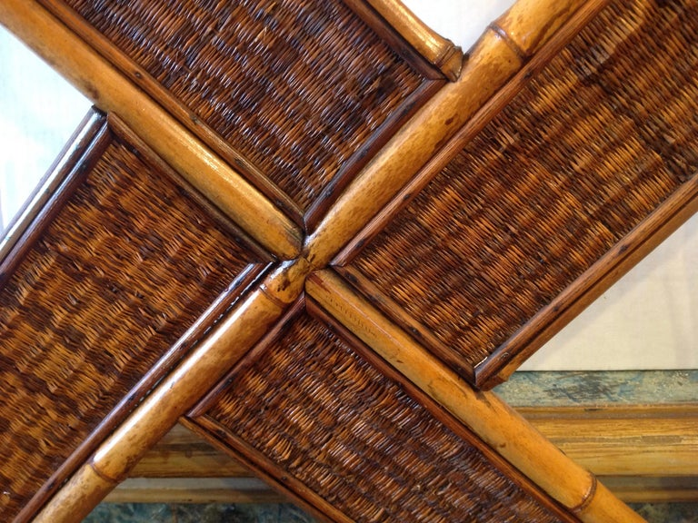 Antique English Bamboo Hall Stand For Sale 4