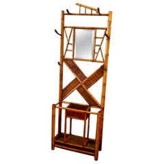 Antique English Bamboo Hall Stand