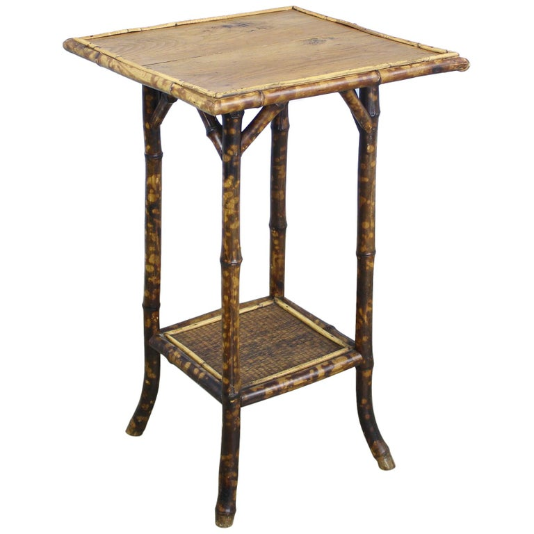 Antique English Bamboo Side Table For Sale At 1stdibs