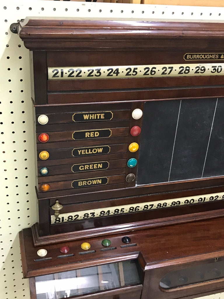 High Victorian Antique English Billiards Score Board by Burroughes & Watts, London For Sale