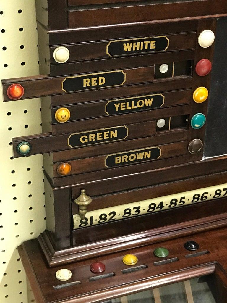 Antique English Billiards Score Board by Burroughes & Watts, London In Good Condition For Sale In Atlanta, GA