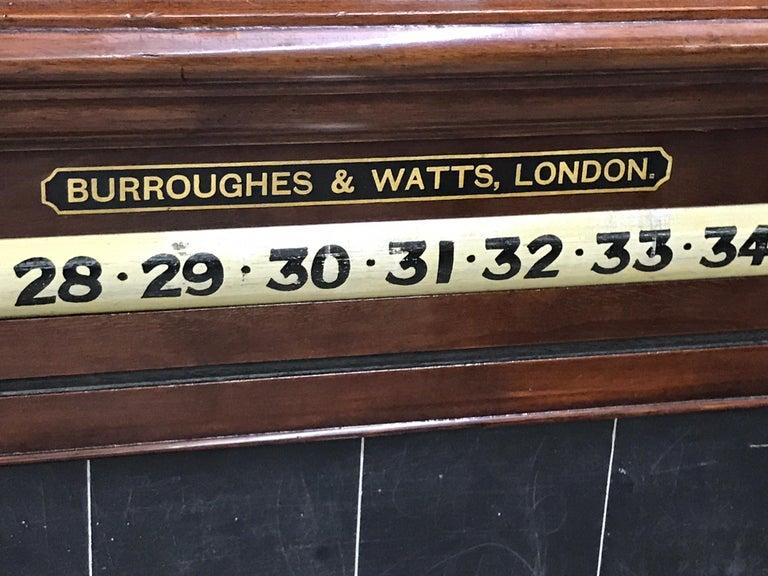 Antique English Billiards Score Board by Burroughes & Watts, London For Sale 1
