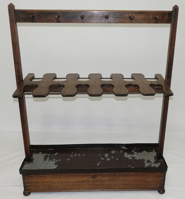 Carved Antique English Boot Rack, circa 1820 For Sale