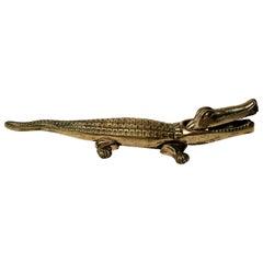 Antique English Brass Nutcracker Alligator