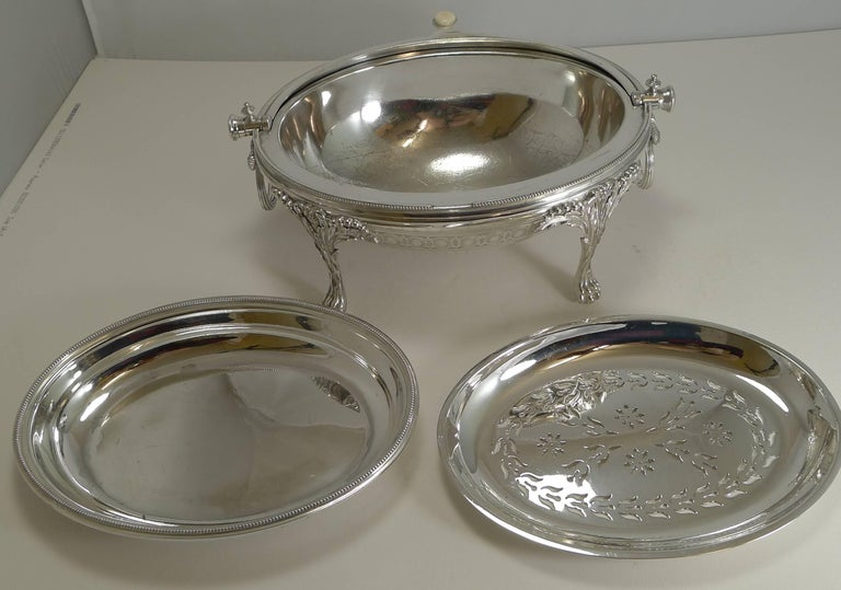 Antique English Breakfast Dish by Elkington and Co. 1875 For Sale 3