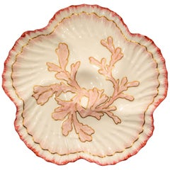 "Antique English ""Brownfield Porcelain"" Oyster Plate Made for Tiffany, circa 1900"