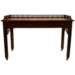 Antique English Chinese Chippendale Style Writing Desk