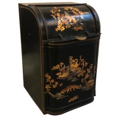 Antique English Chinoiserie Tea Bin