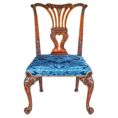 Antique English Chippendale Rococo Chair Attributed to Vile & Cobb, circa 1755