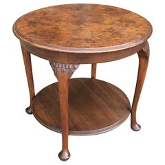 Antique English Chippendale Round End Table