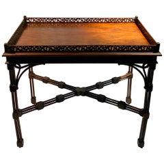 Antique English Chippendale Tea Table, circa 1920