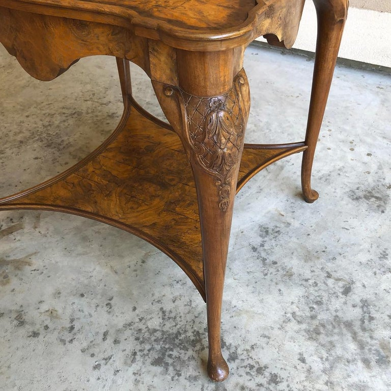 Antique English Chippendale Tea Table with Tray For Sale 5