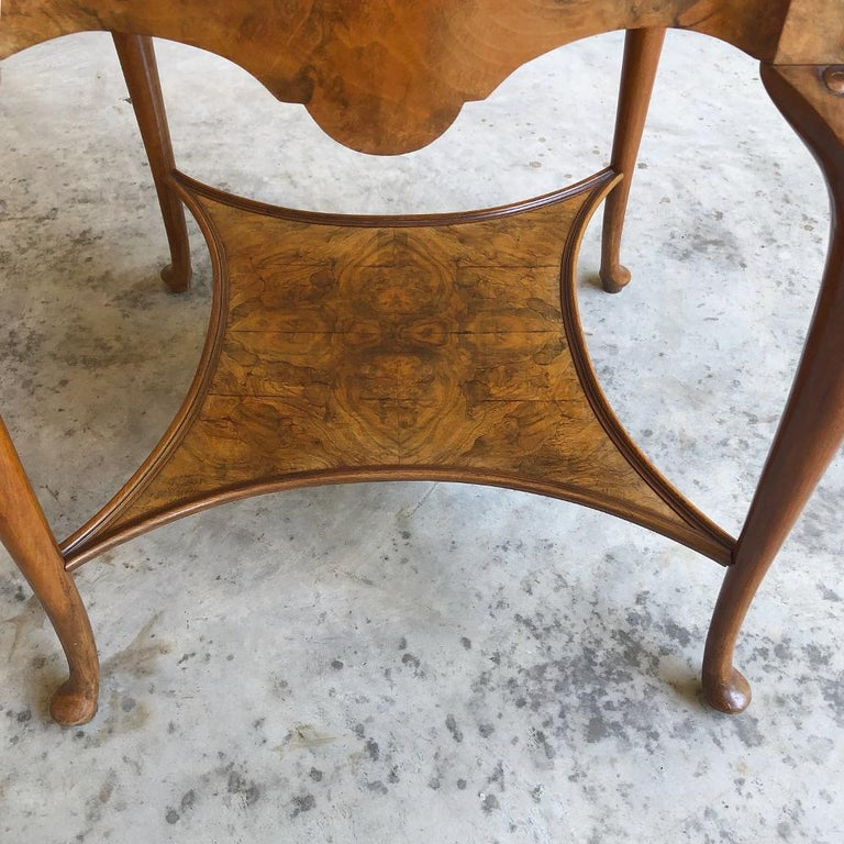 Antique English Chippendale Tea Table with Tray For Sale 6