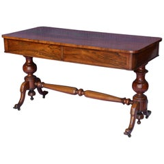 Antique English Console Table with Two Drawers