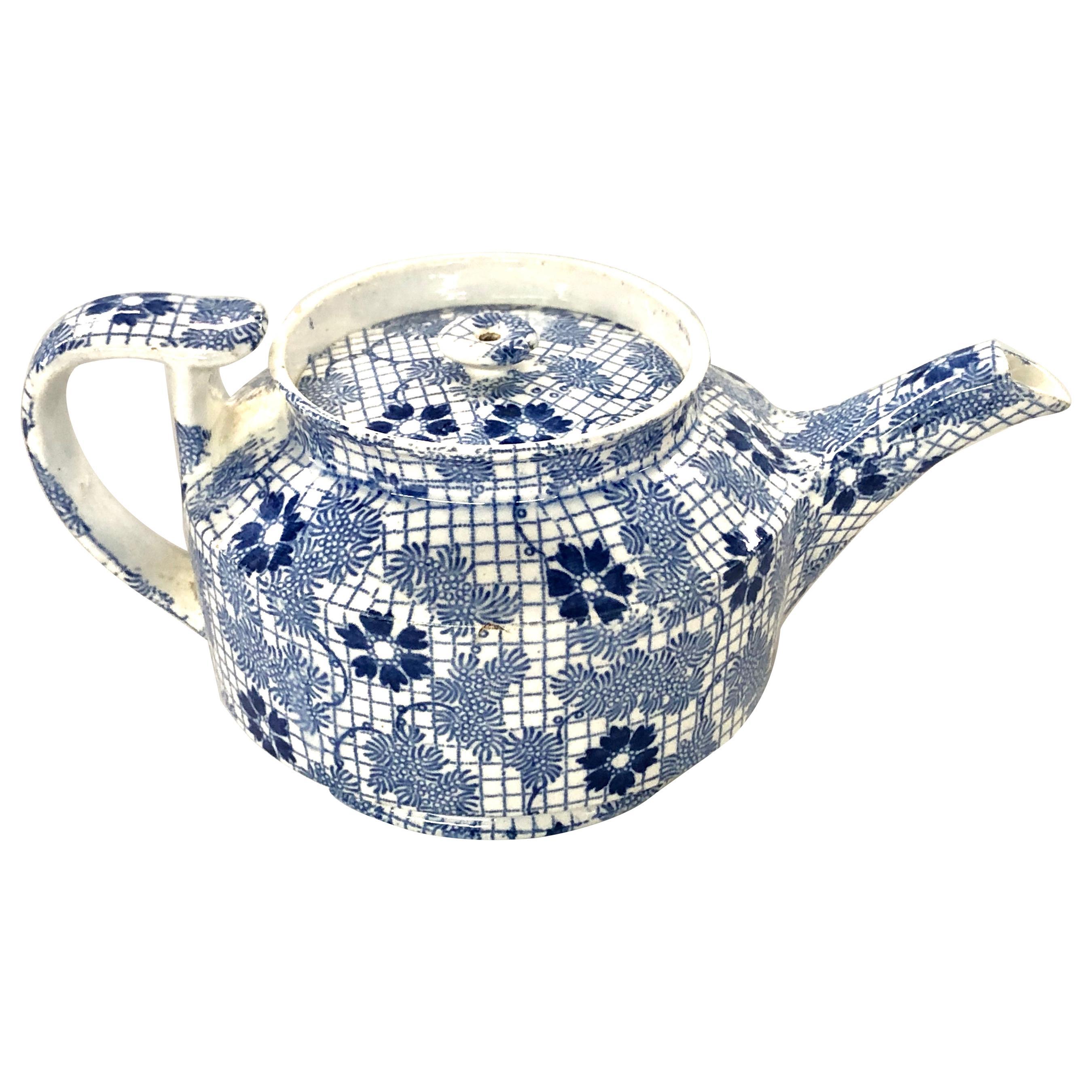 "Antique English Copeland and Garrett 'Spode' Earthenware ""Chintz"" Mini Teapot"