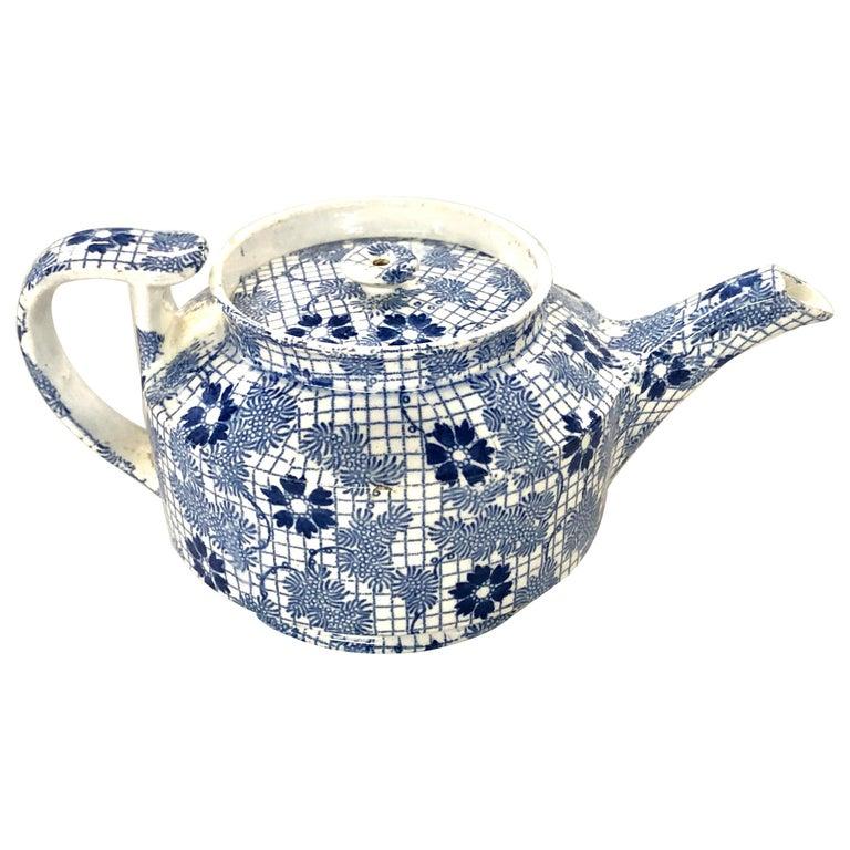 "Antique English Copeland and Garrett 'Spode' Earthenware ""Chintz"" Mini Teapot For Sale"