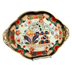Antique English Copeland 'Spode' Earthenware Imari Cabaret or Vanity Tray