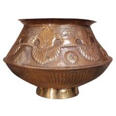 Antique English Copper Jardinière Planter