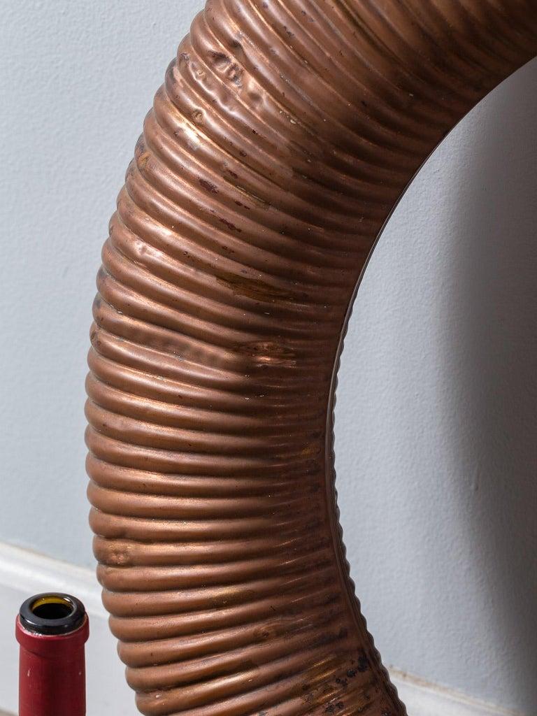 Antique English Copper Life Buoy circa 1895 Label Attached For Sale 2