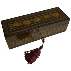 Antique English Coromandel and Tunbridge Ware Box, circa 1850