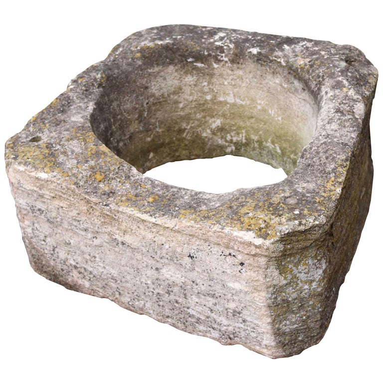 Antique English Cotswold Limestone Well Head For Sale